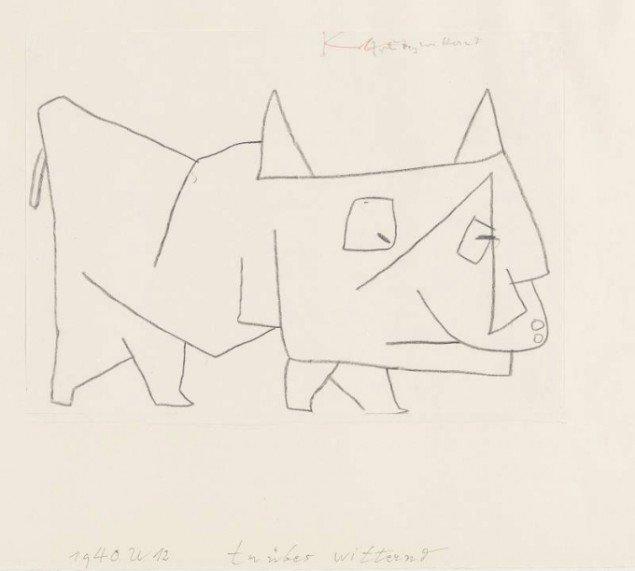 Fange en trist færd, Paul Klee, 1939 (Foto: Zentrum Paul Klee, Bern)