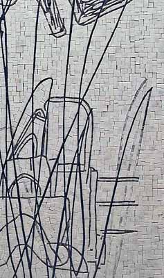 Erik A. Frandsen: Annulleret Home (Detalje), marmormosaik, 2011. pressefoto.