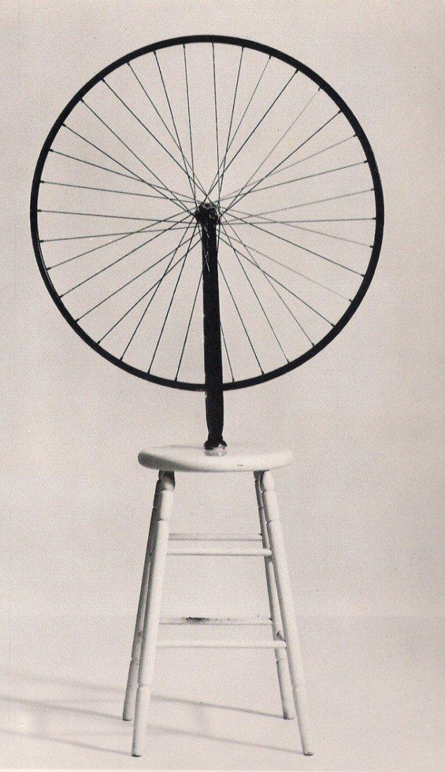 Marcel Duchamp: Roue de Bicyclette, 1913. Pressefoto.