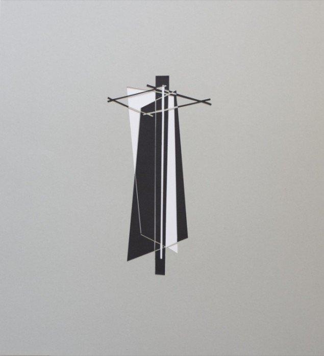 Jesper Carlsen: Untitled, papirklip, 55 x 50 cm, 2011. Pressefoto.