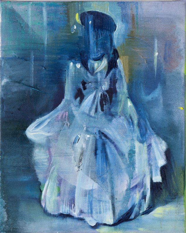 Cathrine Raben Davidsen: Masquerade, 2011, 40 x 32 cm, olie på lærred. Foto: Anders Sune Berg.