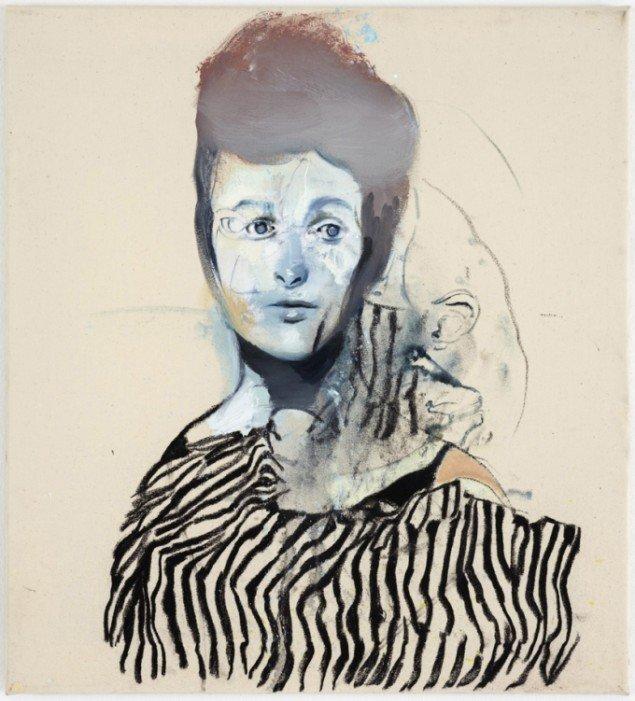 Cathrine Raben Davidsen: The Witness, 2009, 40 x 30 cm, kul på lærred. Pressefoto.