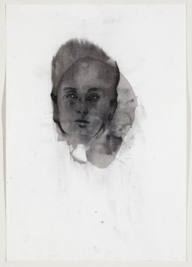 Cathrine Raben Davidsen: Untitled, 2010, 73 x 51 cm, blæk, kul på papir. Foto: Anders Sune Berg.