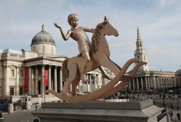 Elmgreen & Dragsets skulptur skal stå på Trafalgar Square i 18 måneder, hvorefter en anden skulptur overtager pladsen. Foto:  James O Jenkins.