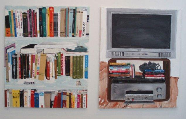 Malerier af Ana Jensen. Foto: Kristian Handberg,