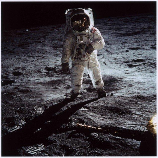 Buzz Aldrin on the Moon, 20. juli 1969. Foto: NASA. Fandt månelandingerne virkelig sted?