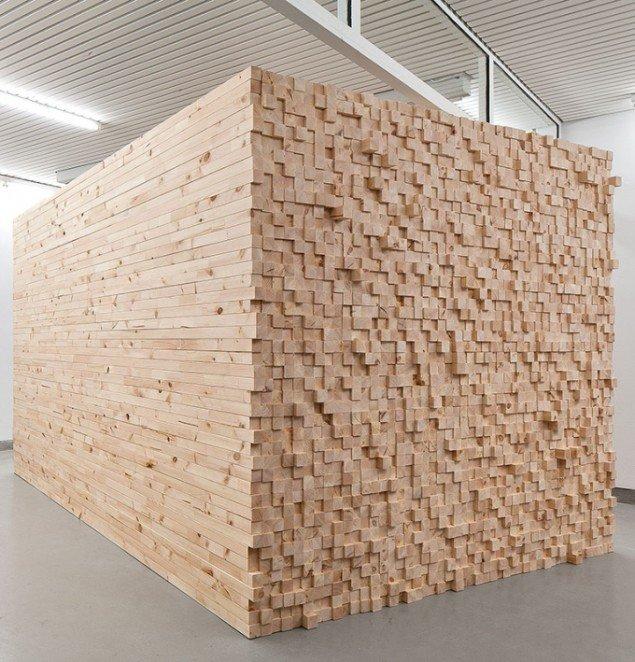 Henrik Menné: Uden titel, 2012, lægter, 199 x 212 x 355 cm. Foto: Alec Due.