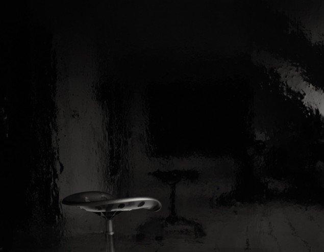 Pernille Koldbech Fich: Black [wall II, chair], 2009-2011, 78 x 100 cm.