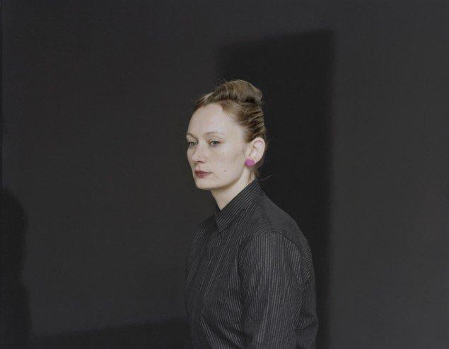 Pernille Koldbech Fich: Black [center, earring #1], 2009-2011, 89 x 113 cm.