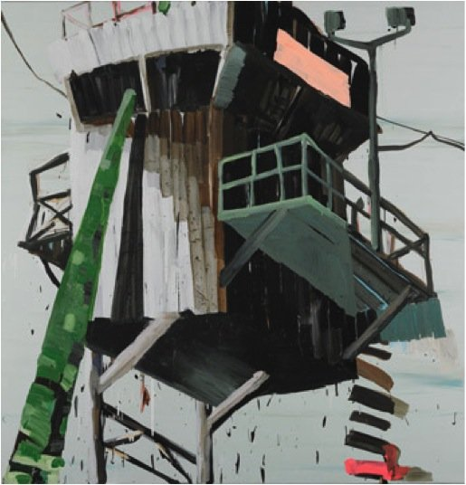 Watchtower with Green Stick, 2007. Akryl og polymer på lærred, 190 x 185 cm. Pressefoto.