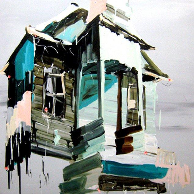 Veranda House, 2008, 125 x 125 cm. Pressefoto.