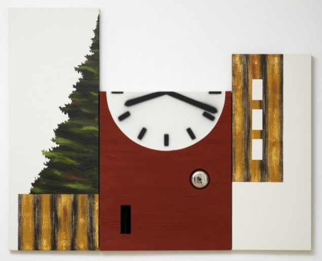 Leonard Forslund: Wood Nation/Time College, 2011, 130 x 162 cm. Foto: Torben Eskerod.