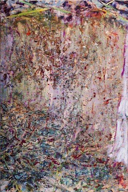 Tordensol, 2012, olie på lærred og akvarel på papir, 120 x 80 cm. Pressefoto.