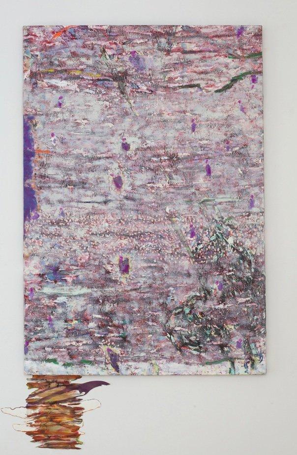 Himlens urtehaver, 2012, olie på lærred og akvarel på papir, 120 (+15) x 80 cm. Pressefoto.