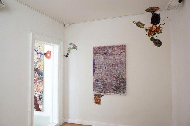 Udstillingsview fra Bie & vadstrup Galleri. Pressefoto.