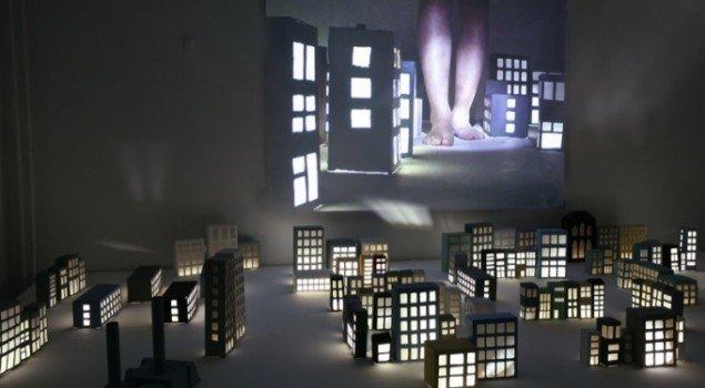 In the dream it is always night, Århus Kunstbygning 2007. Foto: Erling Lykke Jeppesen.