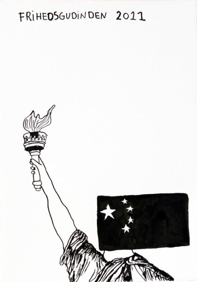 Frihedsgudinden, 2011. Pressefoto.