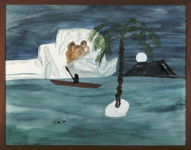 Thule, 2006, akvarel, 78 x 100 cm. Pressefoto.
