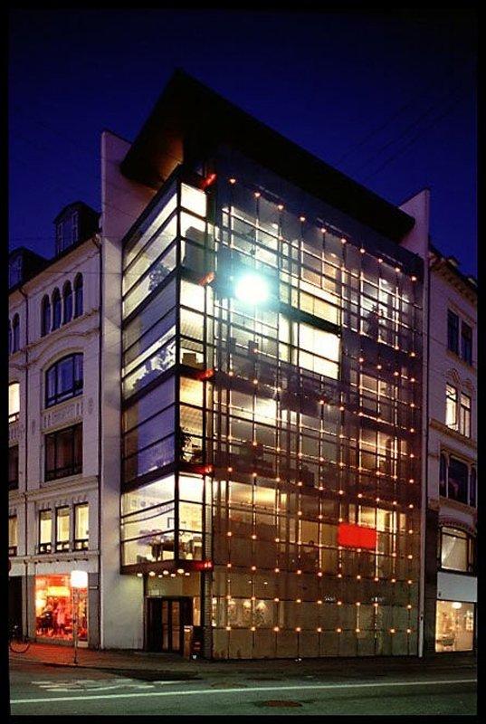 BT-Huset, Henning Larsen, 1994, København. (Foto:  Kunstakademiets Arkitektskoles Bibliotek)