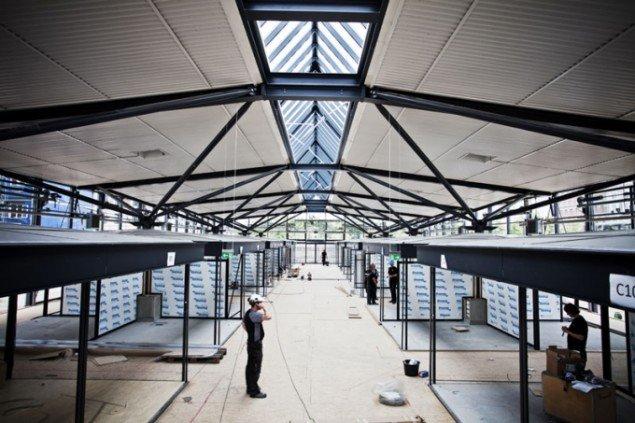 Fra opbygningen af Torvehallerne i København (Foto: Torvehallernekbh.dk)