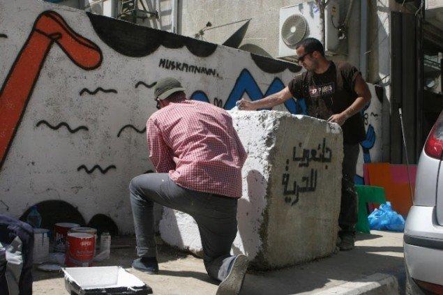 Majd Abdul Hamid og HuskMitNavn. Foto: Bassam al-Mohor