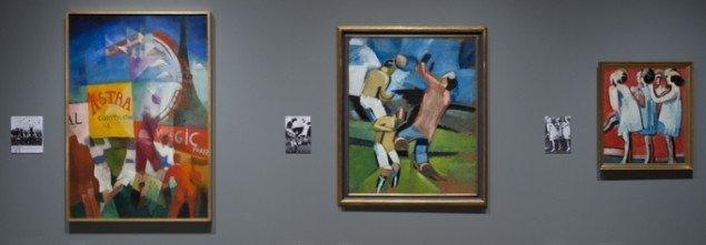 Udstillingsview fra Modernisme – maleriets fornyelse 1908-41. Foto: Ole Hein Pedersen.