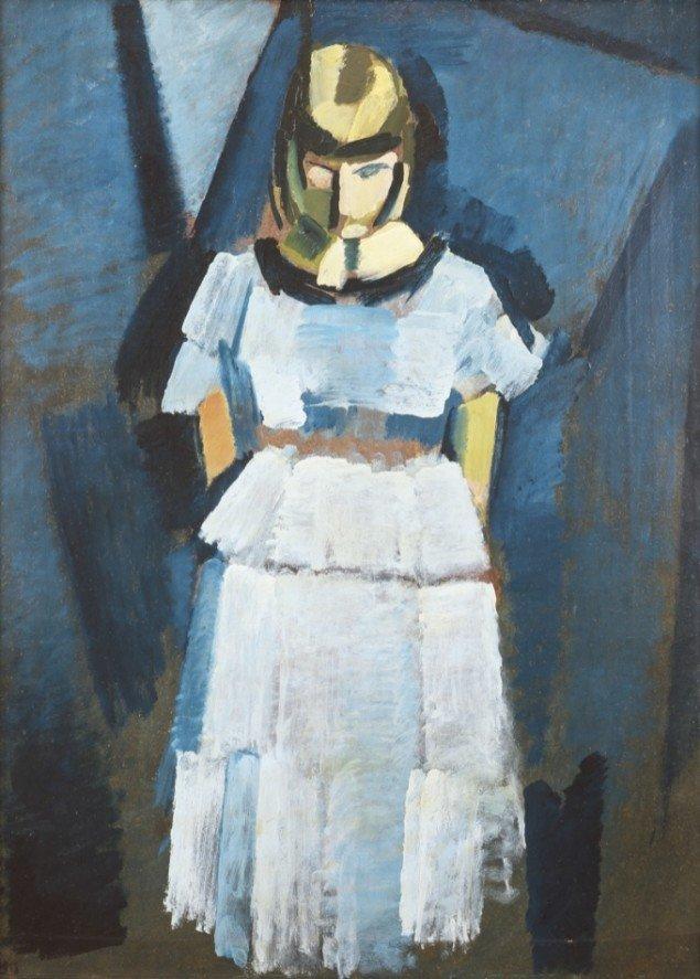 Harald Giersing: Ung dame i lyseblåt, 1918. ARoS Aarhus Kunstmuseum. Foto: Ole Hein Pedersen.
