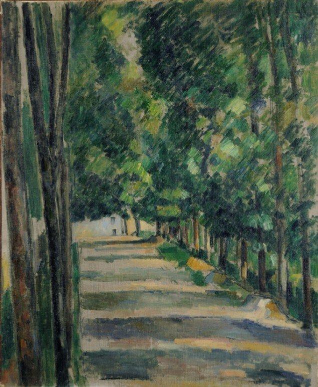 Paul Cézanne: Allé, 1879, Göteborgs Konstmuseum. Foto: Hossein Sehatlou.