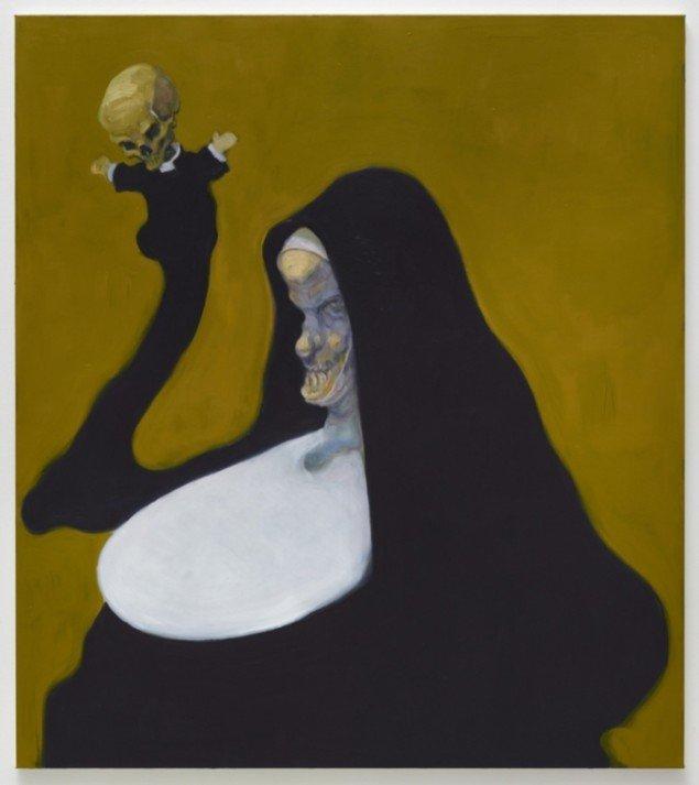 Mother, 2011, olie på lærred, 135 x 120 cm. Pressefoto.