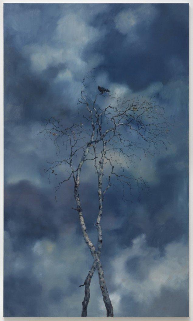 Interrupted Sky Piece II, 2012, olie på lærred, 220 x 130 cm. Pressefoto.