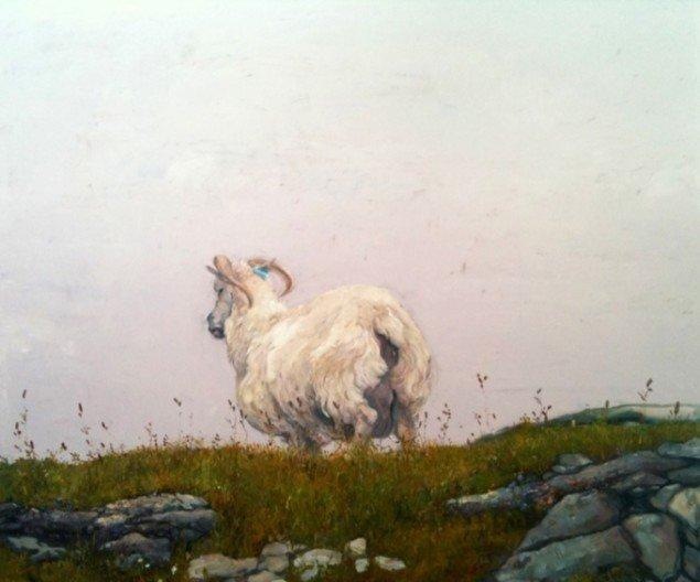 Den umiddelbare horisont, 2011, olie på lærred, 170 x 200 cm. Pressefoto.
