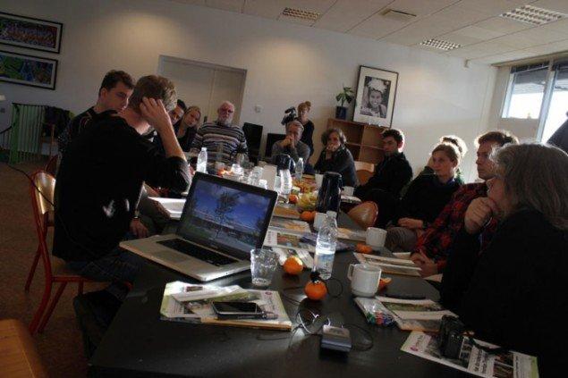 Kunstner-workshop i Tingbjerg i nov. 2011. (Pressefoto)