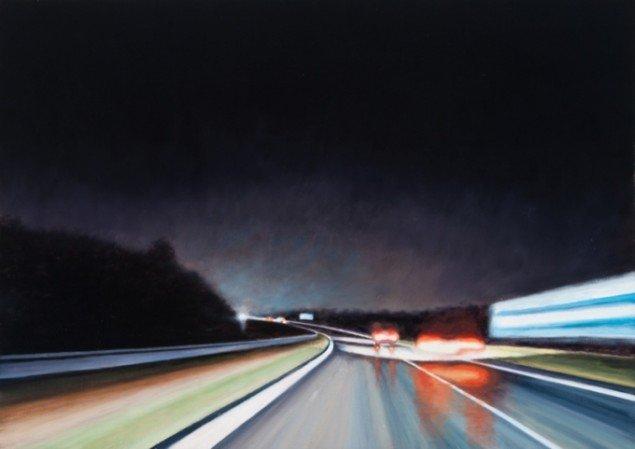Route Noir II, 2012, olie på lærred, 50 x 70 cm. Pressefoto.