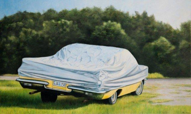 Under-cover, 2011, olie på lærred, 100 x 150 cm. Pressefoto.