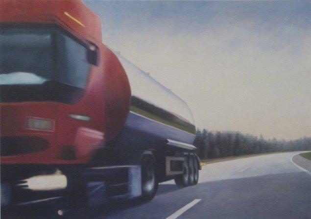 Red tanker, 2007, olie på lærred, 120 x 150 cm. Pressefoto.