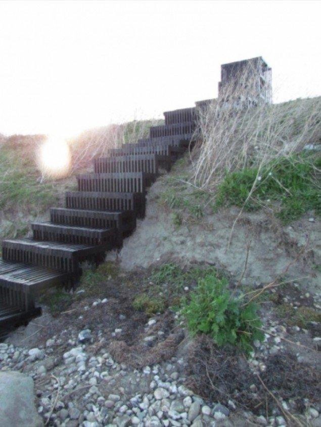 Happyspace[SE], Snegletrappen - En trappe lavet til at huse sneglene i området. Foto:Urban Play.