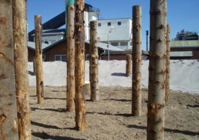 Rebar Group[USA] Legelandskab af sand og træ. Foto:Urban Play.