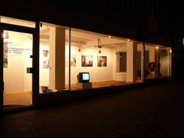Den store vinduesfacade er en vigtig faktor for galleriet