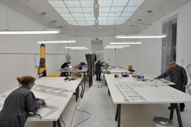Free Sol Lewitt, 2010, workshop på the Van Abbemuseum i Holland. Foto: Peter Cox.