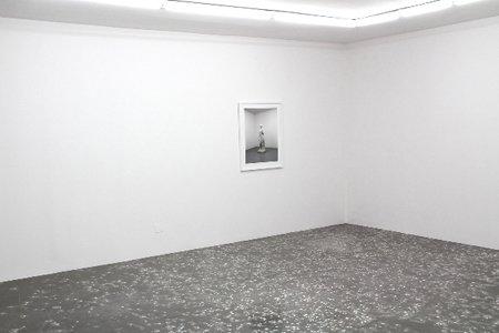Terrazzo Floor, 2011. Statuen knuses, blandes med cement og hældes ud over gulvet i galleriet som et traditionelt terrazzogulv.  Fotografiet af statuen udstilles sammen med gulvet.