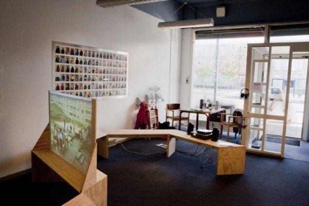 Installationsview fra Tingbjerg Kunsthal, der er etableret under festivalen. (Pressefoto)