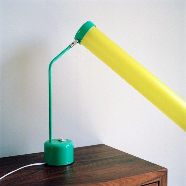 Transparent plastic attached to lamp, 2012. Pressefoto.