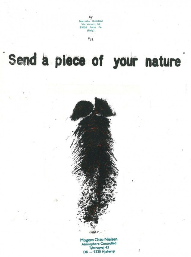 Marcello Diotallevis bidrag til Mogens Otto Nielsens Send a piece of your nature. Pressefoto.