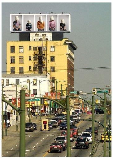Billboard, Vancouver Biennale, 2010. Pressefoto.