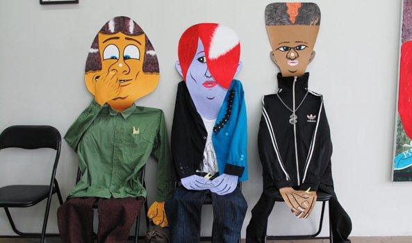 Fra udstillingen Mens vi venter på opsvinget på V1 Gallery i 2010. Pressefoto.