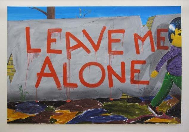 Fra Alone Together - en soloudstilling på Charlotte Fogh Contemporary i 2011. Foto: HuskMitNavn