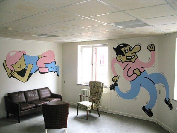 Maleri til Mændenes Hjem, 2008. Foto: HuskMitNavn.