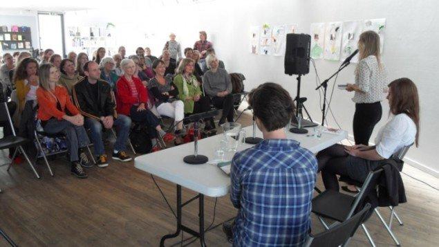 Forfatterne Stine Pilgaard og Hanne Højgaard Viemose gæstede Århus Kunstbygning 3 juni til en snak om selvet i litteraturen.