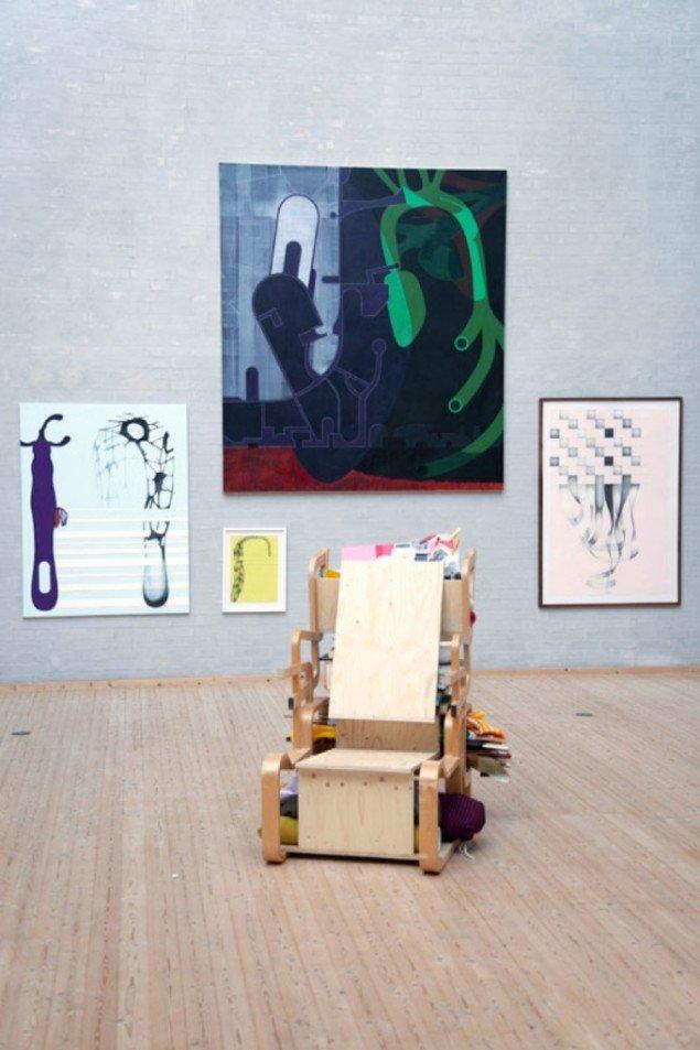 Lisbeth Eugenie Christensen (maleri & tegning) og Jørgen Carlo Larsen (skulptur). Foto: Himmerlands Kunstmuseum.