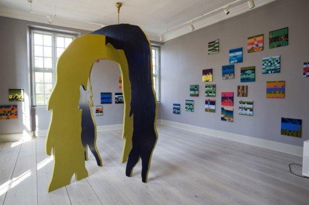 Malene Hartmann Portal,træskulptur. Foto: Ole Misfeldt